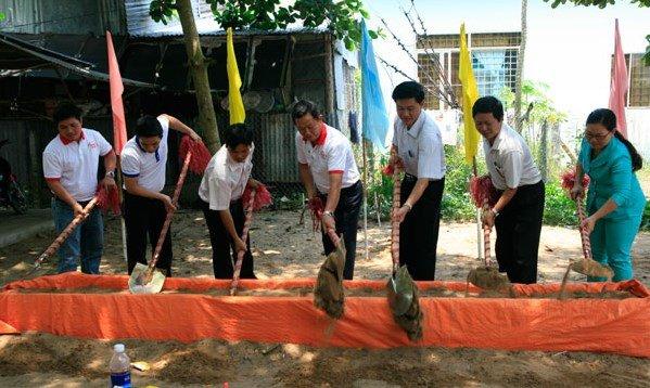 két sắt goodwill - lễ khởi công xây dựng trường