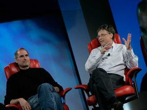 Steve Jobs và Bill Gates