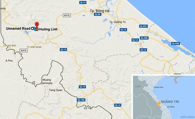 bản đồ nơi xảy ra trộm két sắt