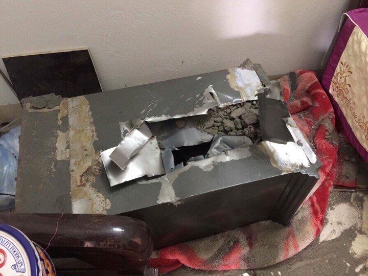 Chiếc két sắt bị phá
