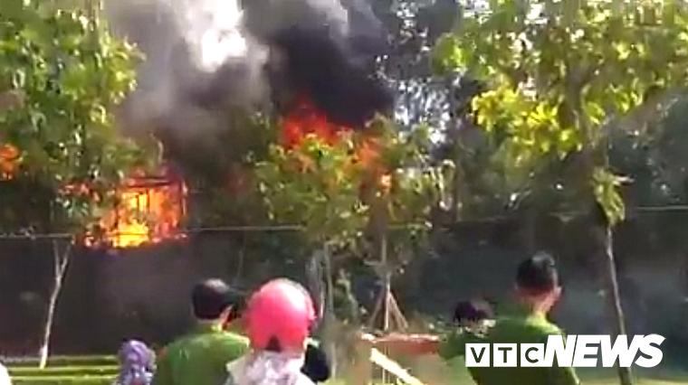 Hiện trường vụ cháy két sắt