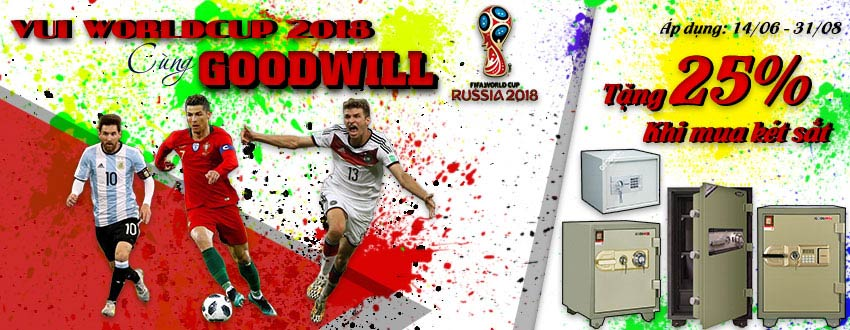 Sôi động cùng worldcup 2018 với két sắt Goodwill