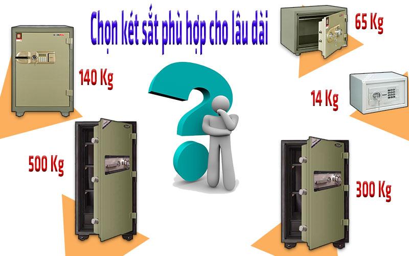 Chọn két sắt phù hợp để sử dụng lâu dài