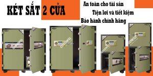 két sắt 2 cửa tiện lợi tiết kiệm và an toàn