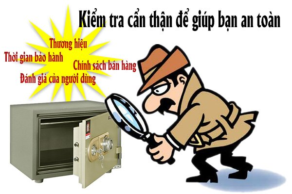 Cách kiểm tra cửa hàng bán két sắt uy tín