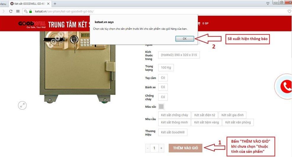 Hướng dẫn mua két sắt trực tuyến chính hãng