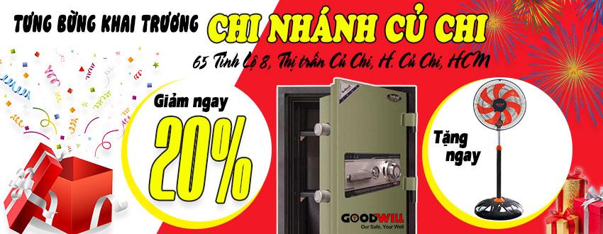 Khai trương két sắt Củ Chi